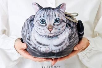kinchaku felissimo sac main forme chat japon 01 331x219 - Ces Chats Assis au Regard Impassible sont des Sacs à Main