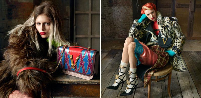 versace campagne femme hiver 2019 2020 05 - Un Hiver Glam Rock pour la Femme Versace