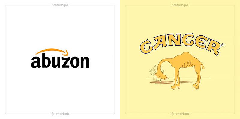 viktor hertz detournement honnete logo slogan marques 04 - Et si les Logos des Marques Affichaient leurs Vraies Intentions