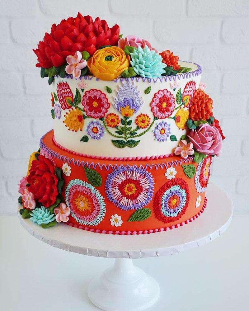 broderies gâteaux Leslie Vigil, Gâteaux Aux Broderies de Couleurs par Leslie Vigil