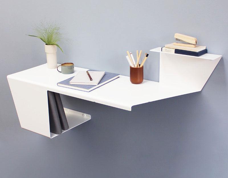 bureau desk design minimaliste anne linde 02 - Desk, le Bureau Mural Minimaliste pour Petits Espaces