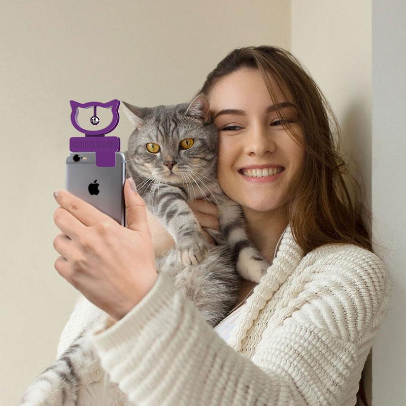 cat selfie accessoire smartphone iphone chat 03 - Cat Selfie pour des Photos Parfaites avec votre Chat
