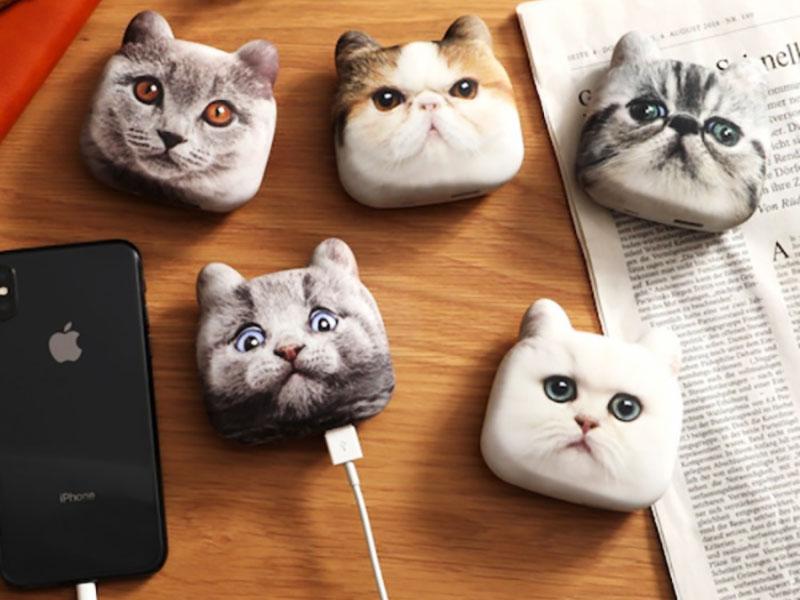 chargeur mobile design tete chat japon 02 - Ces Têtes de Chats sont des Chargeurs pour Mobiles