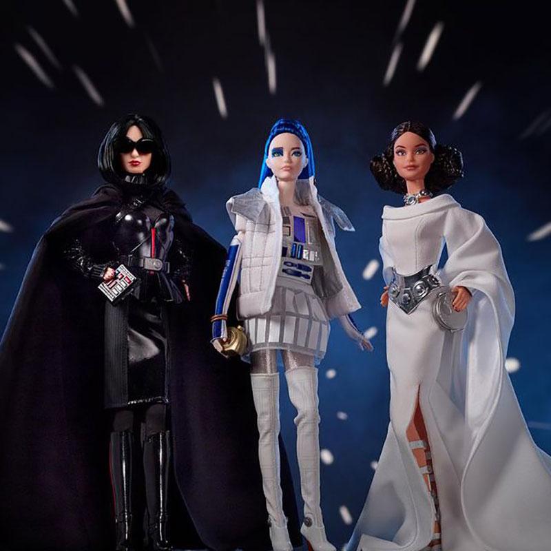 poupee barbie star wars darth vader r2 d2 leia 01 - Star Wars avec Barbie en Darth Vader, Leia et R2-D2