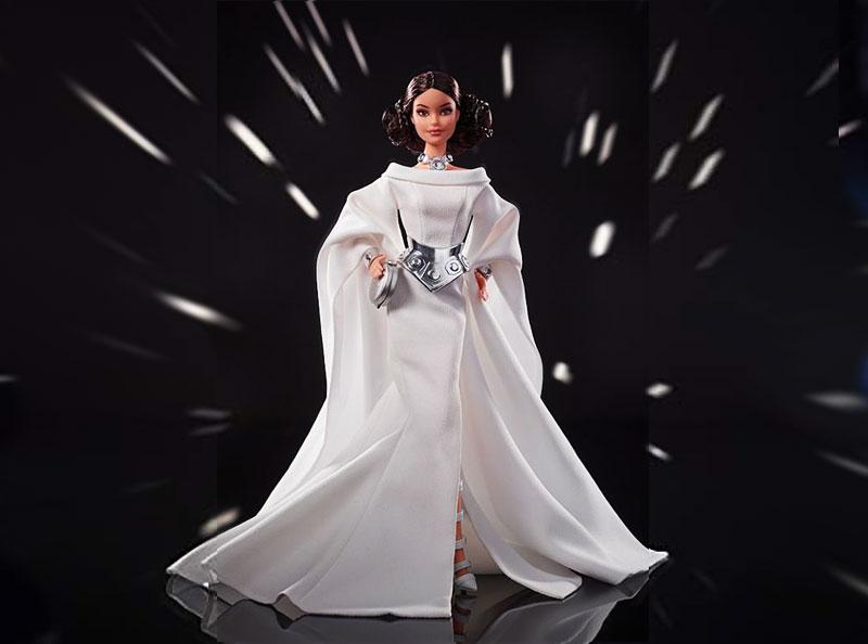Star Wars Barbie, Star Wars avec Barbie en Darth Vader, Leia et R2-D2