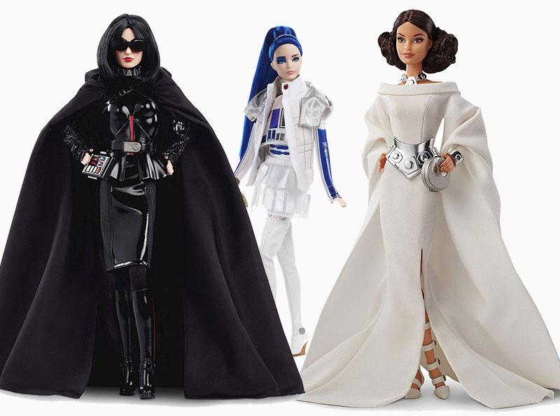 poupee barbie star wars darth vader r2 d2 leia 07 - Star Wars avec Barbie en Darth Vader, Leia et R2-D2