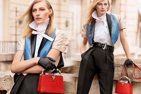 campagne sacs capucines louis vuitton hiver 2019 02 600x400 - Sacs Capucines Louis Vuitton, le It-Bag de l'Hiver