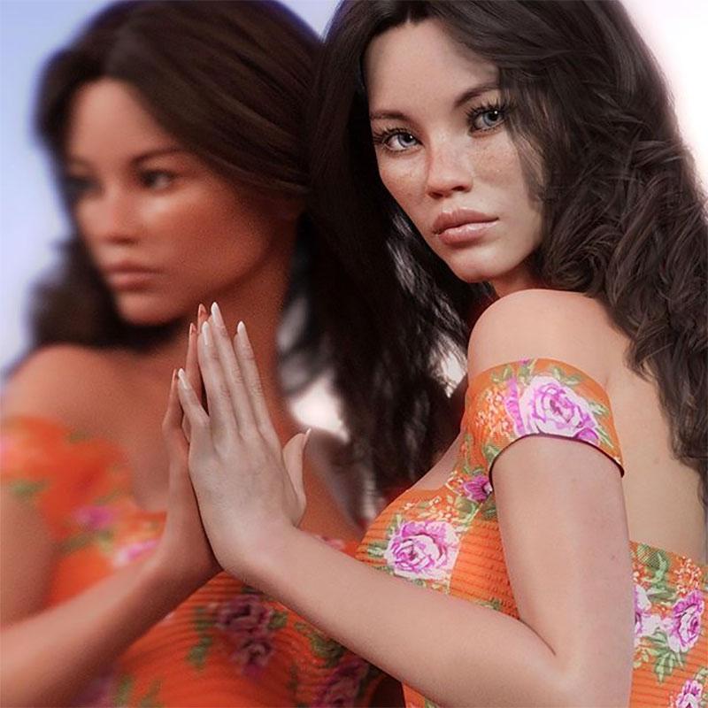 Daisy Paige, Daisy Paige, la Top Modele Virtuelle qui a Signé avec une Agence