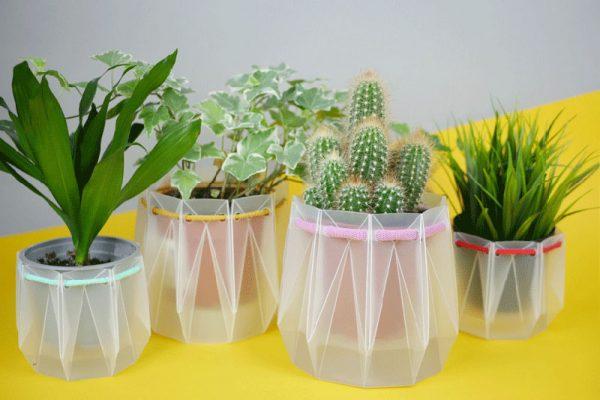flatpack origami potr pots reserve eau plantes 03 600x400 - POTR Pots, Pots pour Plantes Ecolo avec Réserve d'Eau