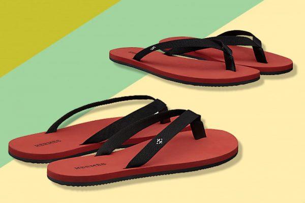 flip flops tongs luxe hermes homme femme 01 600x400 - Tongs de Luxe Hermès pour Plagistes Fortunés