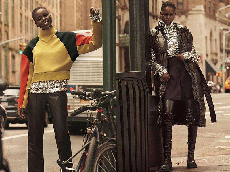 H&M Studio hiver 2019, H&M Studio Part à New York cet Hiver avec Adut Akech