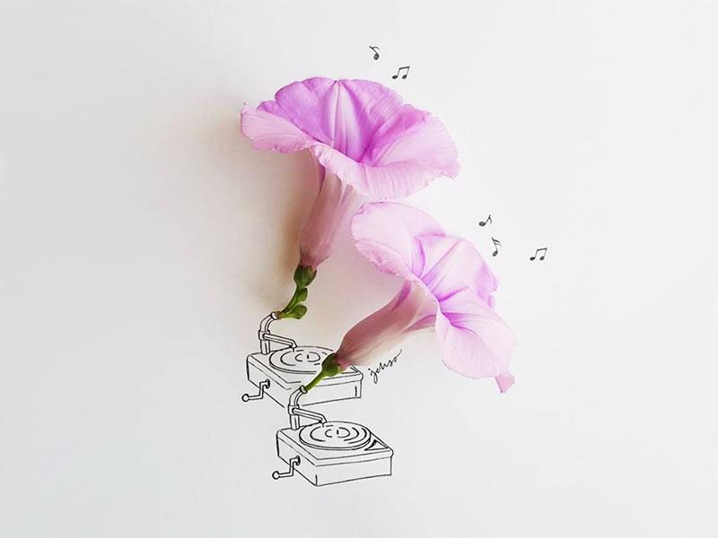 Illustrations 3D Jesuso Ortiz, Fruits et Fleurs Complètent ces Poétiques Illustrations 3D de Jesuso Ortiz