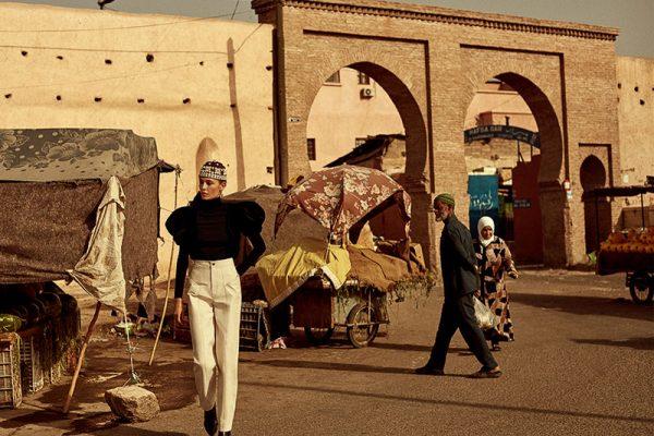 nadja bender marrakech telva magazine 03 600x400 - La Top Nadja Bender à Marrakech Pour Telva Magazine