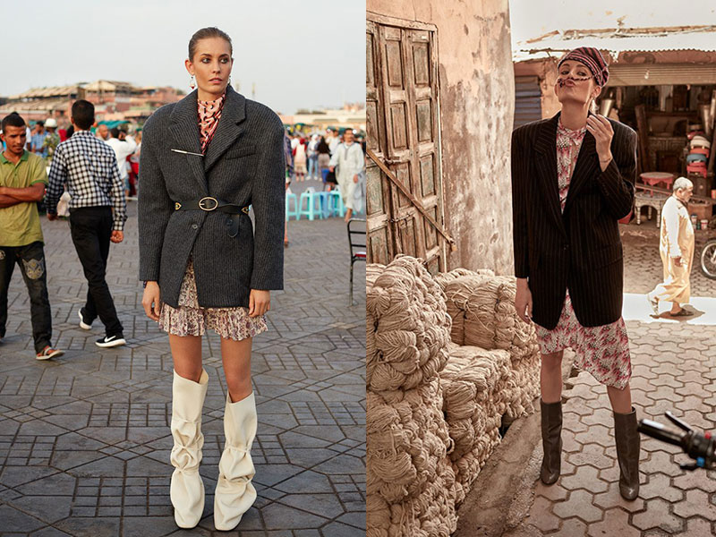 Nadja Bender Marrakech Telva, La Top Nadja Bender à Marrakech Pour Telva Magazine