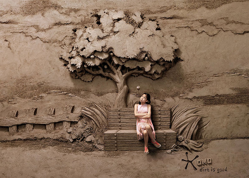 sculptures sable JOOheng Tan, Sculptures de Sable en Haut et Bas Relief par JOOheng Tan