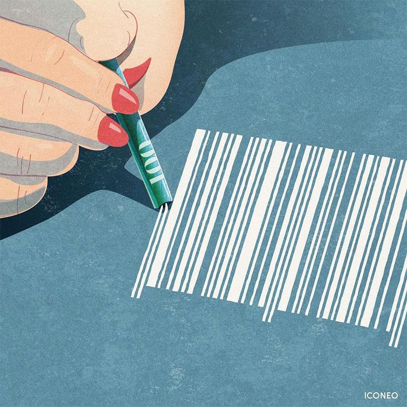 Iconeo Steffen Kraft illustrations, Iconeo Illustre Brillamment les Problèmes de Notre Société