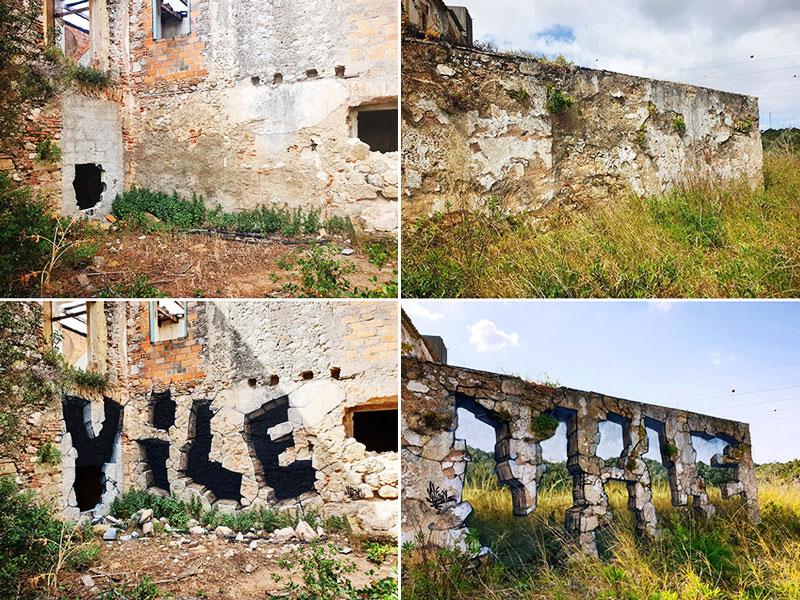 graffiti Vile art murs, Le Graffiti Artiste Vile Rend les Murs Transparents Avec Sa Bombe de Peinture