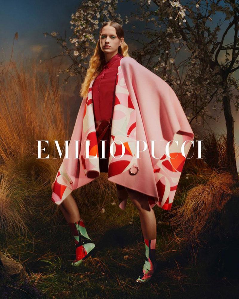 Emilio Pucci automne hiver 2019, Emilio Pucci en Promenade dans un Jardin Japonais