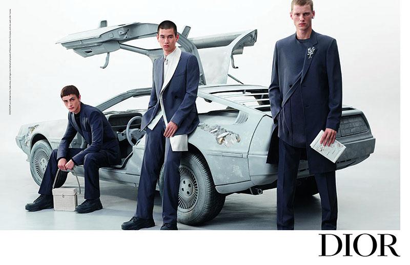 campagne dior homme été 2020, Un Homme Dior Ete 2020 en DeLorean DMC