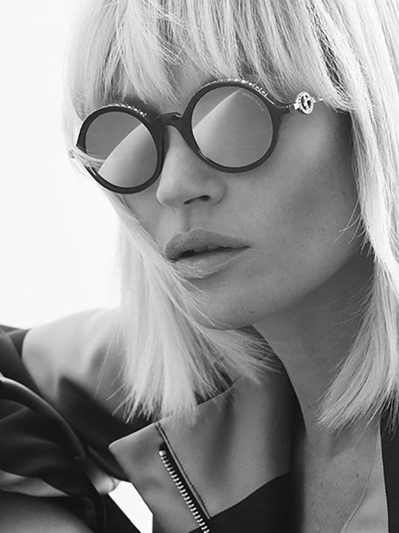 Giorgio Armani lunettes de soleil hiver 2019, Kate Moss en Lunettes de Soleil Giorgio Armani