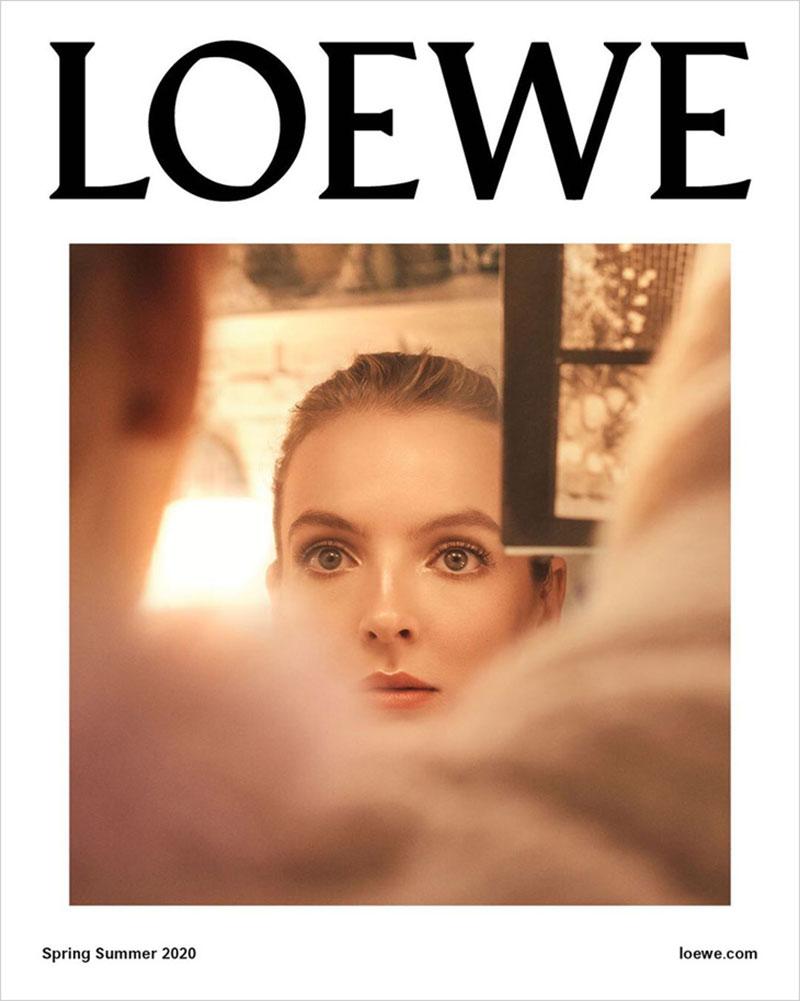 Loewe printemps 2020 Jodie Comer, Jodie Comer Star de la Campagne Loewe Eté 2020
