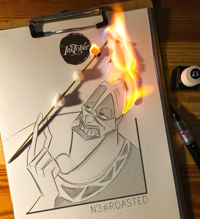 Luigi Kemo Volo, Amusantes Illustrations en 3D au Crayon par Luigi Kemo Volo