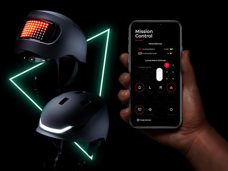 Lumos Matrix, Lumos Matrix, Casque de Vélo Connecté à LED chez Apple