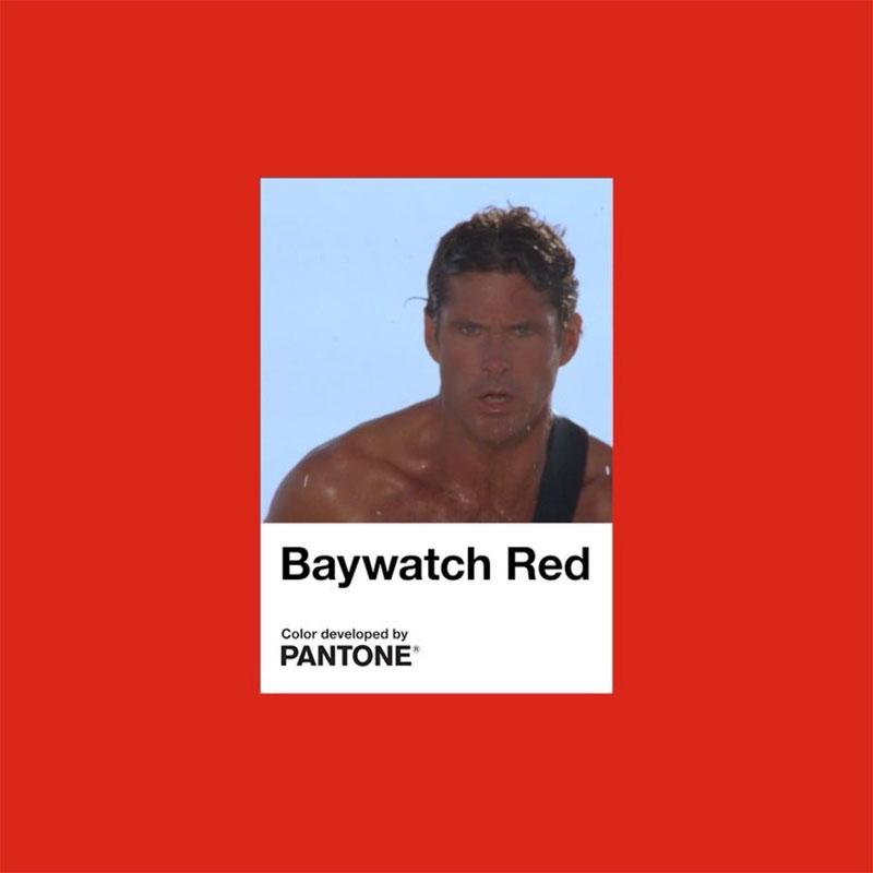 Pantone Baywatch Red, Pantone Baywatch Red, la Couleur de la Série Alerte à Malibu