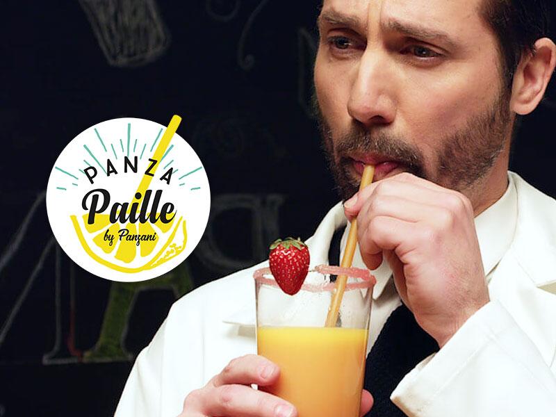Panza Paille, Panza Paille, la Paille Jetable et Biodégradable de Panzani