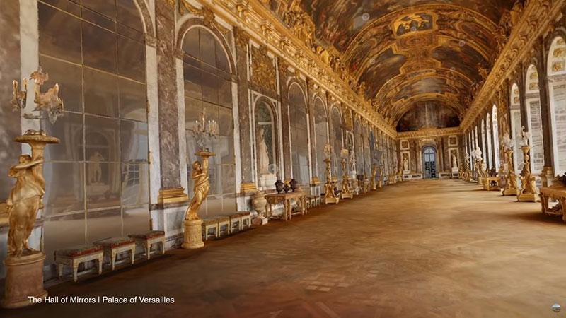 Versailles réalité virtuelle google, Visitez Versailles en Réalité Virtuelle avec Google (video)