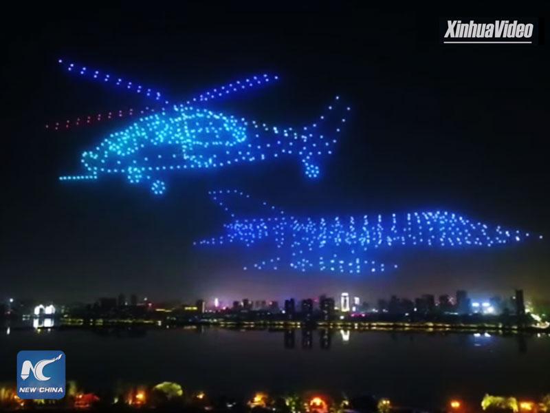 Avions Fantômes Drones, 800 Drones pour des Avions Fantômes dans le Ciel de Nanchang