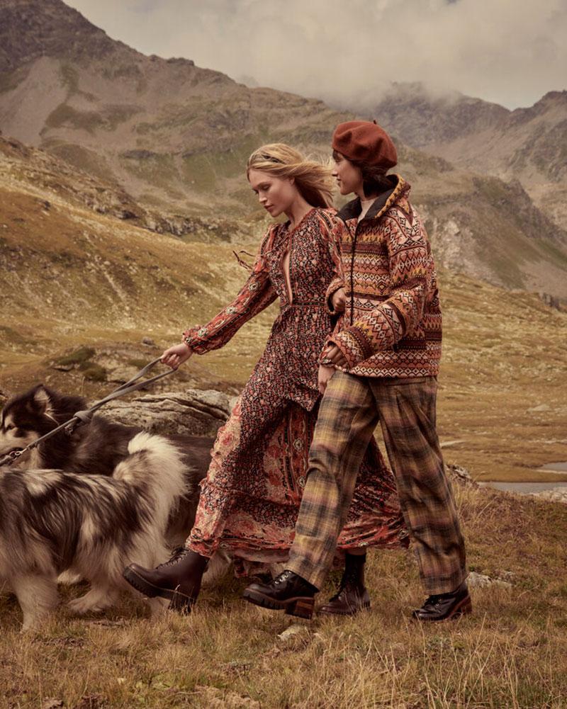 Free People campagne St Moritz, Free People à St Moritz pour les Fêtes de Fin d'Année