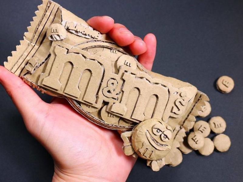 Monami Ohno cartons sculptures, Monami Ohno Transforme les Cartons en Sculptures Réalistes