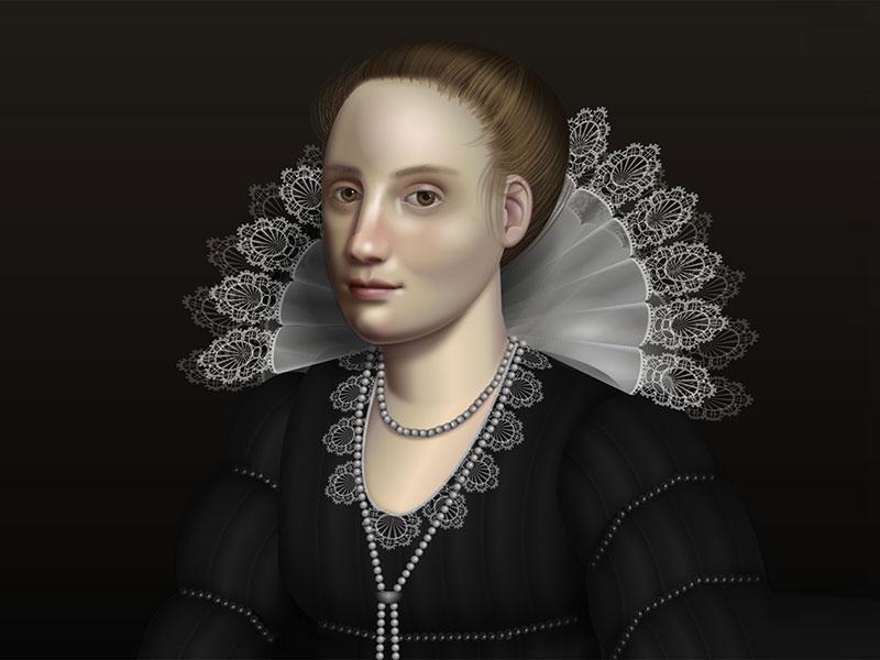 Diana Adrianne Smith, Portraits Baroques en HTML et CSS par Diana Smith