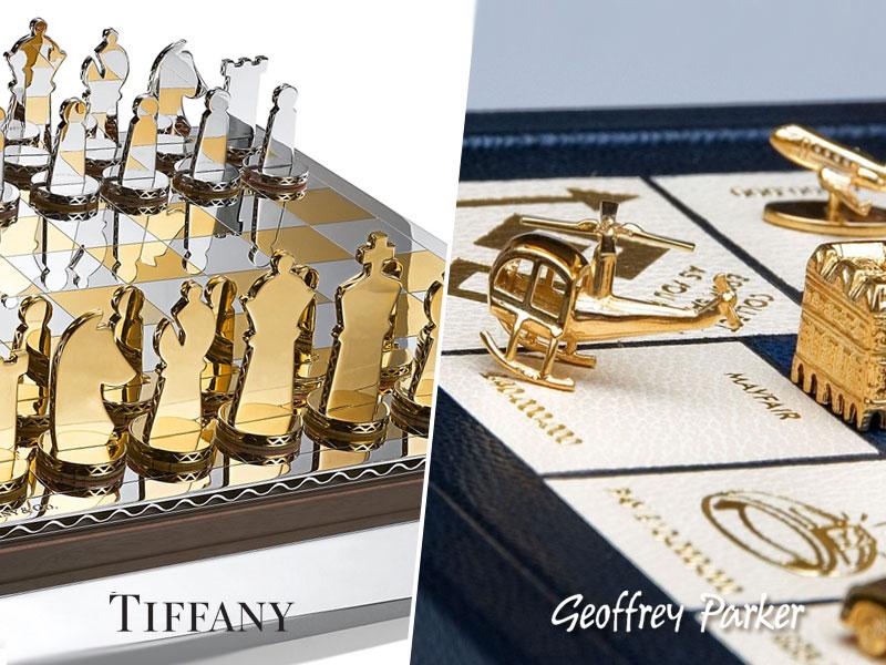 monopoly jeu d'échecs luxe, Luxueux Monopoly à 13700 € et Jeu d'Echecs à 68000 €