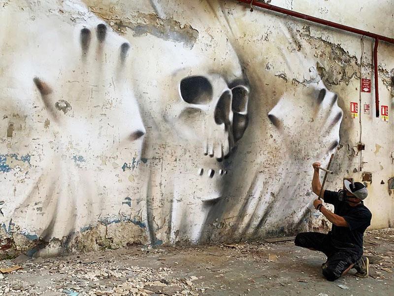 SCAF Peintures 3D, Peintures 3D en Anamorphose par SCAF de Grafo Déco