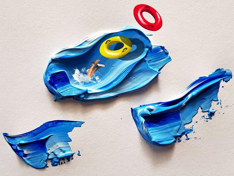Golsa Golchini, Couches de Peinture en Scenes de Vie par Golsa Golchini
