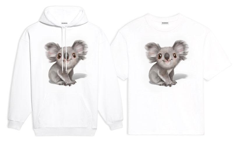 Balenciaga Koalas, Des Koalas sur les T-Shirts et Hoodies Balenciaga pour la Bonne Cause