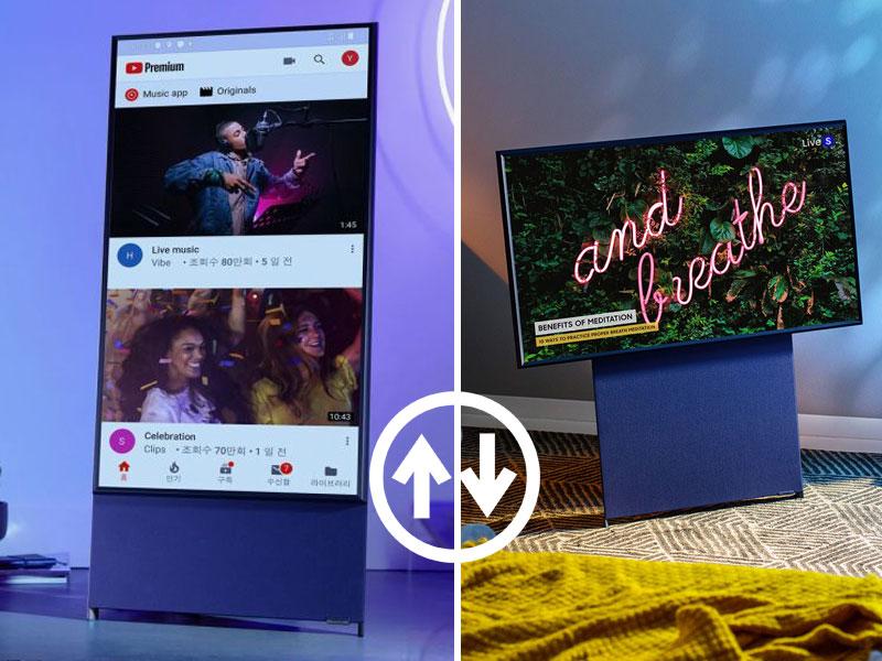Samsung Sero, Samsung Sero, Télé Connectée à Ecran OLED Rotatif pour Internet (video)