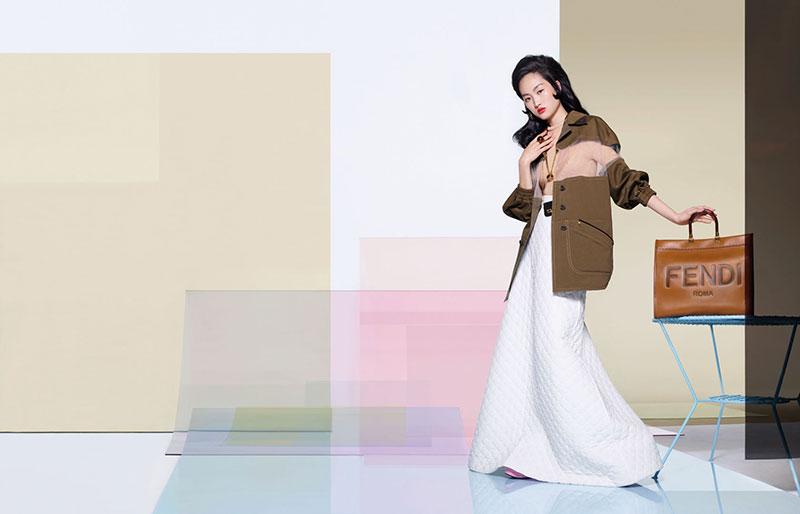 Fendi femme été 2020, La Femme Fendi s'offre un Éte Ensoleillé en Technicolor
