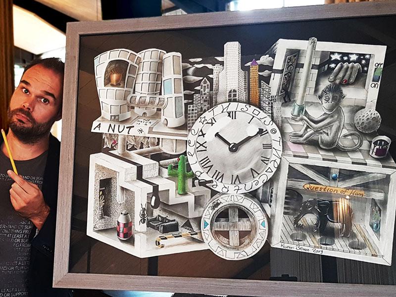 Ramon Bruin, Retour des Incroyables Dessins 3D de Ramon Bruin