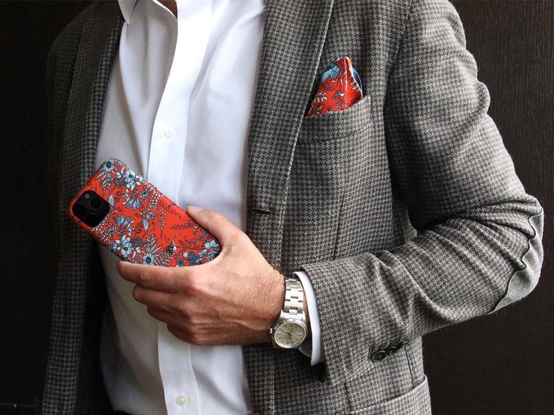 Revested, Revested, Protection iPhone en Soie italienne du lac de Côme