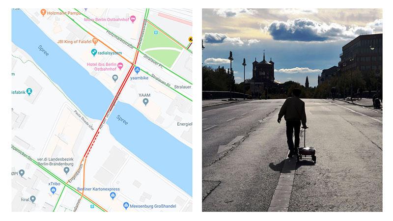 Simon Weckert, Simon Weckert Trompe Google Maps avec du Faux Trafic Routier (video)