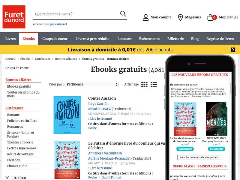 Furet Livres Gratuits, 5000 Livres eBooks Gratuits sur le site du Furet.com