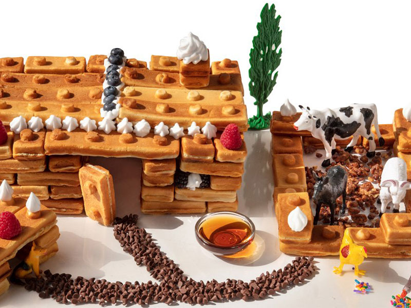 gaufrier lego, Des Gaufres en Forme de Lego c'est plus Rigolo (video)