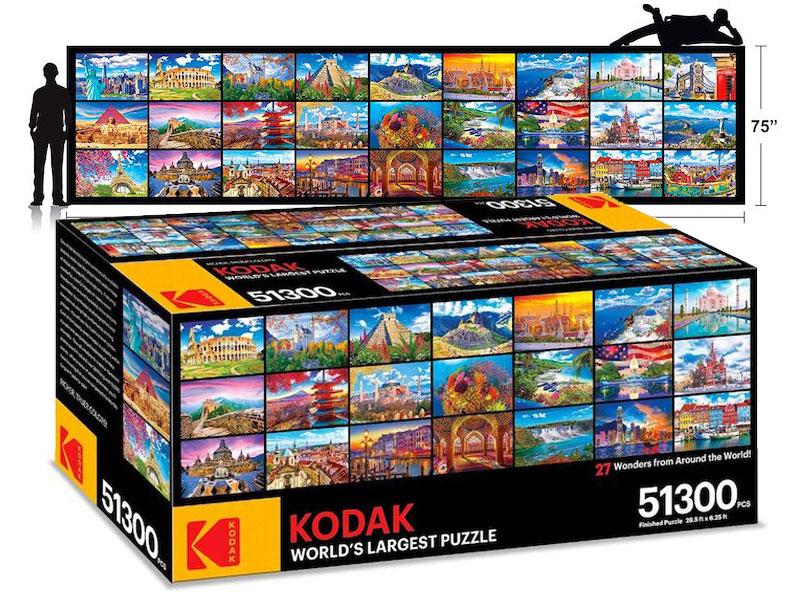 Puzzle Kodak, 51300 Pièces pour le Plus Grand Puzzle au Monde signé Kodak