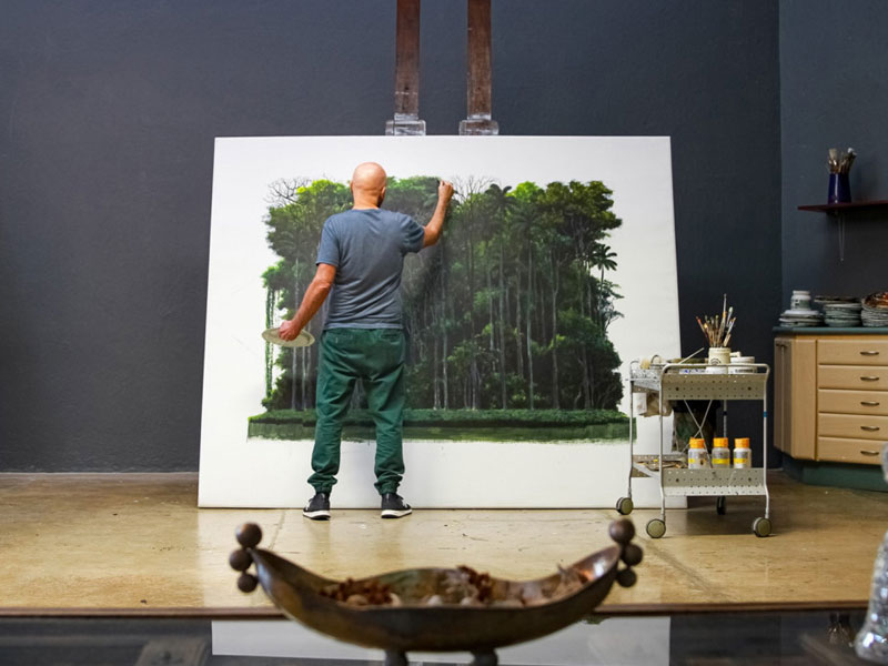 paysages peintures Tomas Sanchez, Peintures de Paysages par Tomas Sanchez Invitant à la Méditation