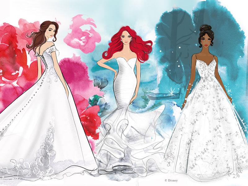 robes de mariée princesses Disney, Robes de Mariées Disney par Allure Bridals ce Printemps