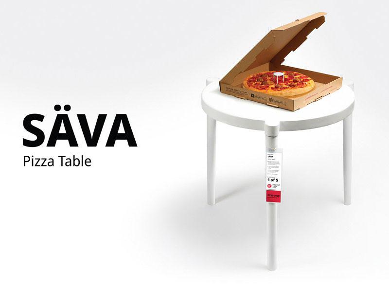 Table Pizza Hut Ikea, Pizza Hut x Ikea Détournent en Table le Trépied à Pizza