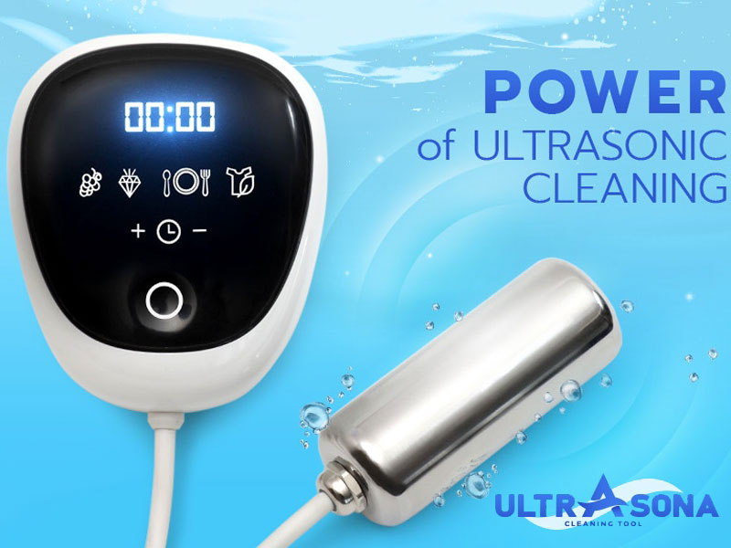 Ultrasona, Ultrasona, Micro Machine à Laver à Ultrasons (video)